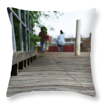 Footbridge Throw Pillow by David S Reynolds