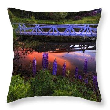 Footbridge Sunset Throw Pillow