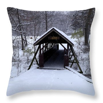 Footbridge To Wonderland Throw Pillow by Scott Kingery