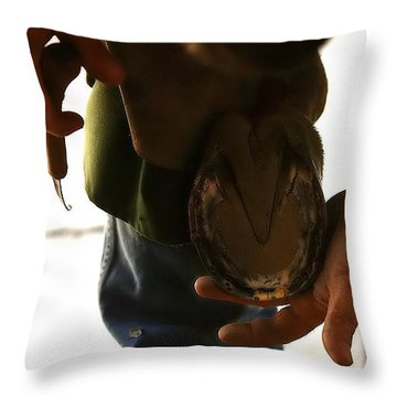 Throw Pillow featuring the photograph Footcare by Angela Rath