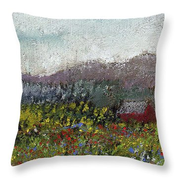 Foothills Meadow Throw Pillow by David Patterson