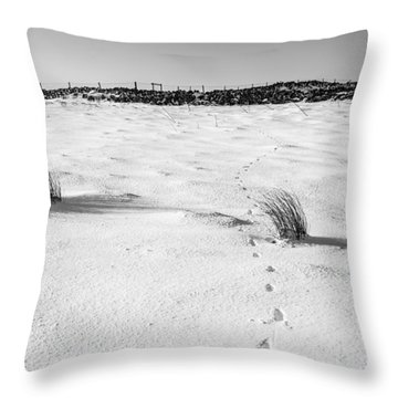 Footprints In The Snow I Throw Pillow