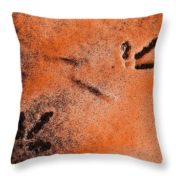 Footprints In The Snow Throw Pillow