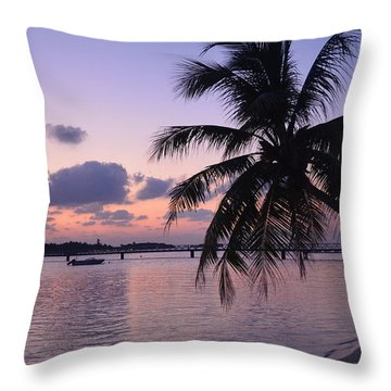 Footsteps Throw Pillow by Corinne Rhode