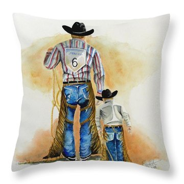 Footsteps Throw Pillow by Jimmy Smith