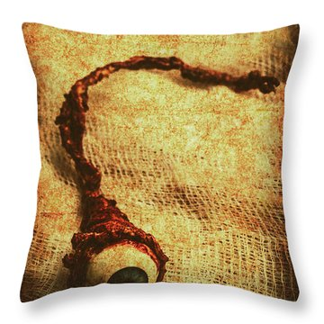 For A Bandaged Iris Throw Pillow