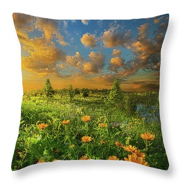 For A Moment All The World Was Right Throw Pillow