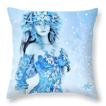 For All Winter Friends Throw Pillow by Jutta Maria Pusl