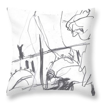 For B Story 4 3 Throw Pillow