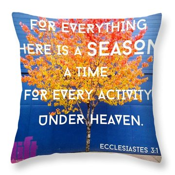 For Everything There Is A Season, A Throw Pillow