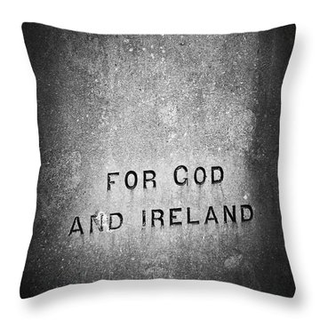 For God And Ireland Macroom Ireland Throw Pillow by Teresa Mucha