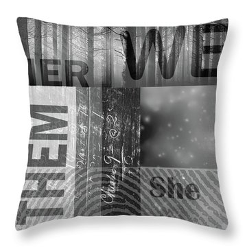 Throw Pillow featuring the digital art For Her by Nancy Merkle