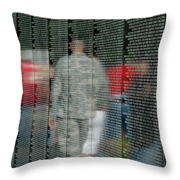 For My Country Throw Pillow by Carolyn Marshall