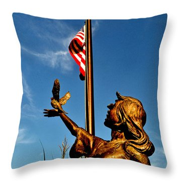For Our Fallen Throw Pillow by George Bostian