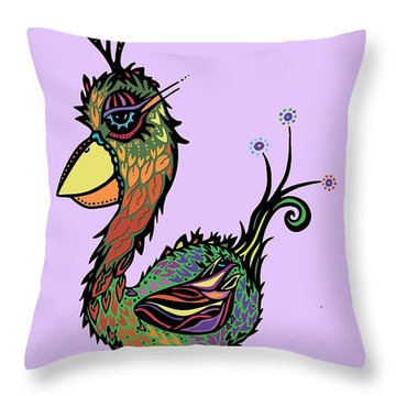 For The Birds Throw Pillow by Tanielle Childers
