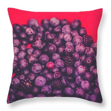 For The Love Of Berries Throw Pillow