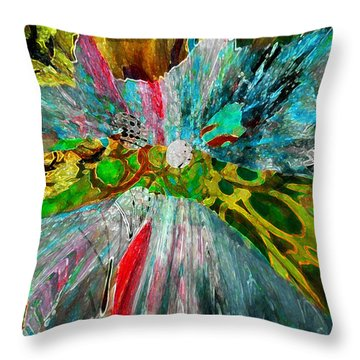 Throw Pillow featuring the digital art For The Love Of Circles by Kate Word