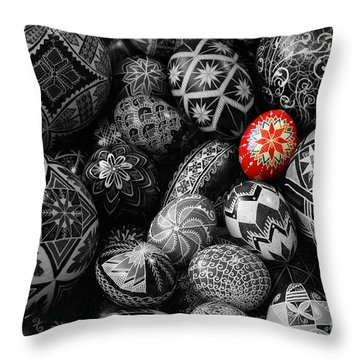 For The Love Of Pysanky Throw Pillow