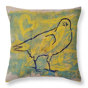 For The Love Of Raven Throw Pillow by Cynthia Lagoudakis