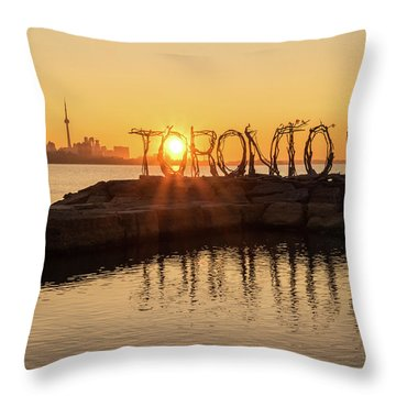 For The Love Of Toronto Throw Pillow