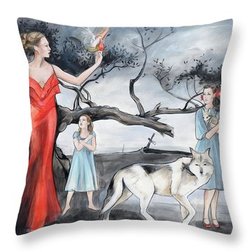 For Those Who Fear Fire Throw Pillow by Jacque Hudson