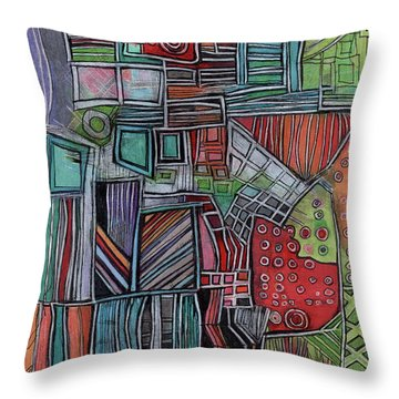 For Two Brothers Throw Pillow by Sandra Church