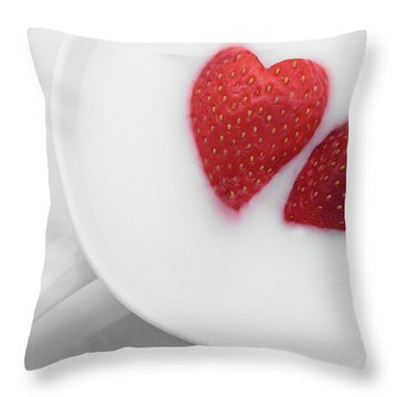 For Valentine's Day Throw Pillow by William Lee