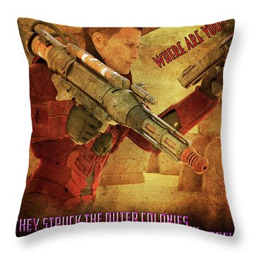 For Victory Throw Pillow
