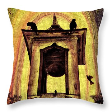 For Whom The Bell Tolls Throw Pillow by Bill Cannon