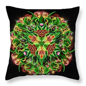 Forbidden Flower Throw Pillow