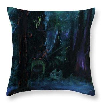 Forbidden Forest Throw Pillow
