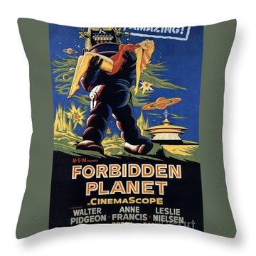 Forbidden Planet Amazing Poster Throw Pillow