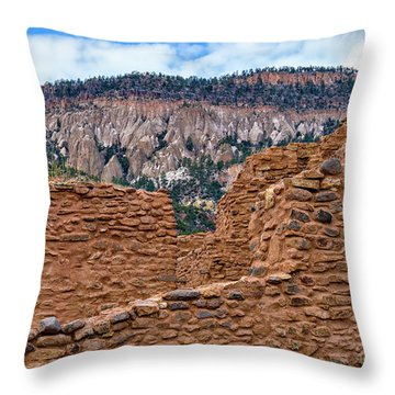 Throw Pillow featuring the photograph Forbidding Cliffs by Alan Toepfer