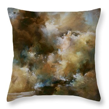 Force Of Nature Throw Pillow by Michael Lang