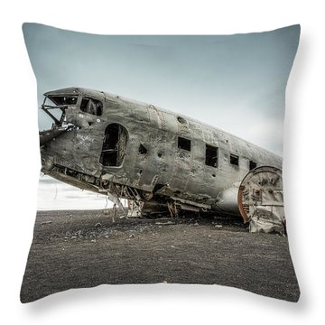 Forced Landing 2 Throw Pillow