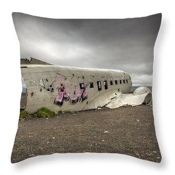 Forced Landing Throw Pillow