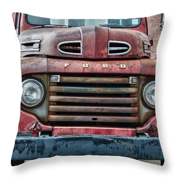 Ford 4623 Throw Pillow by Guy Whiteley