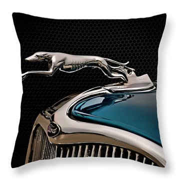 Ford Blue Dog Throw Pillow