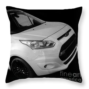 Ford Connect Van Throw Pillow by Vicki Spindler