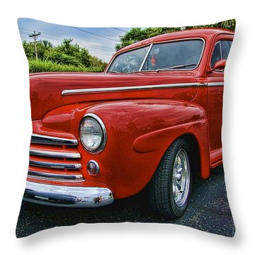Ford Coupe Throw Pillow by Nick Roberts