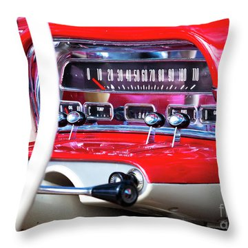 Throw Pillow featuring the photograph Ford Dash by Chris Dutton