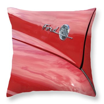 Ford F-100 Throw Pillow by Kelly Mezzapelle