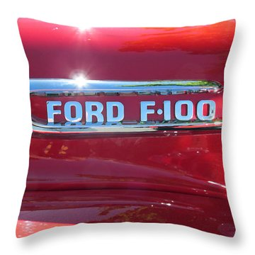 Ford F-100 Logo Throw Pillow