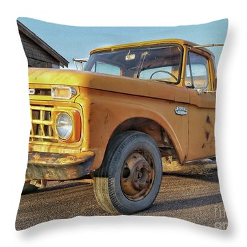Ford F-150 Dump Truck Throw Pillow