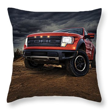 Ford F 150 Raptor  Throw Pillow