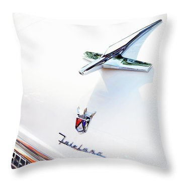 Ford Fairlane Classic Throw Pillow by Theresa Tahara