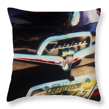Throw Pillow featuring the photograph Ford Fairlane by Michael Hope