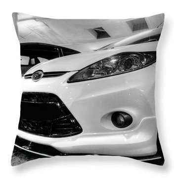 Ford Fiesta In Hdr Throw Pillow by Vicki Spindler