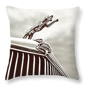 Ford Greyhound Throw Pillow by Caitlyn Grasso