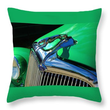 Ford Greyhound Hood Ornament Throw Pillow